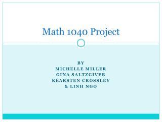 Math 1040 Project