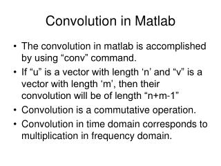 Convolution in Matlab