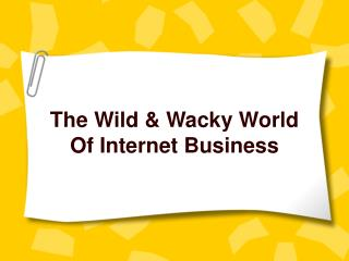 The Wild  Wacky World
