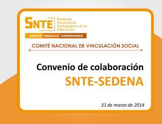 Convenio de colaboración SNTE-SEDENA