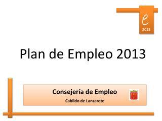 Plan de Empleo 2013