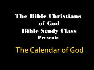 The Calendar of God