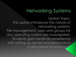 Networking Systems