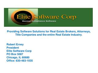 Elite Software Corp.