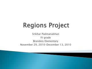 Regions Project