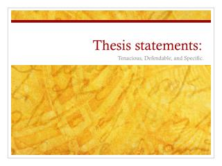 Thesis statements:
