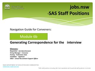jobs.nsw * SAS Staff Positions