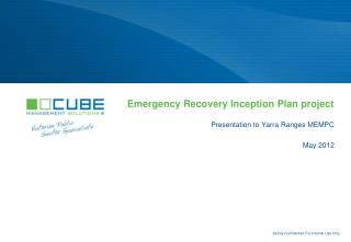 Emergency Recovery Inception Plan project