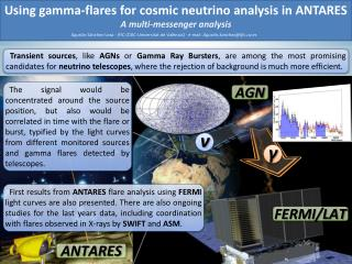 Using gamma-flares for cosmic neutrino analysis in ANTARES A multi-messenger analysis