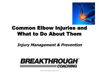 Common Elbow Injuries and What to Do About Them