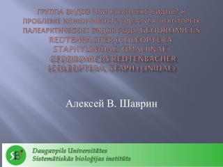 Алексей В .  Шаврин