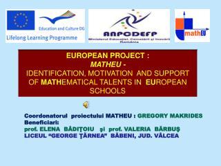 EUROPEAN PROJECT :  MATHEU  -