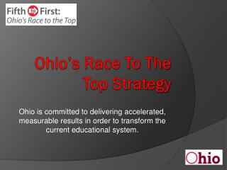 Ohio's Race To The Top Strategy
