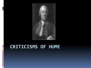 Criticisms of Hume