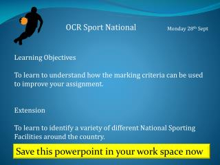 OCR Sport National