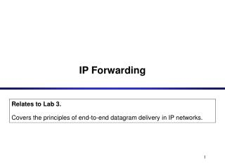 IP Forwarding