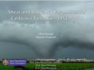 Shear and Buoyancy Parameters for California Tornadoes 1951—2011