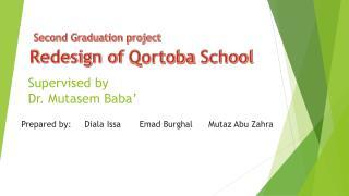 Supervised by Dr.  Mutasem  Baba'