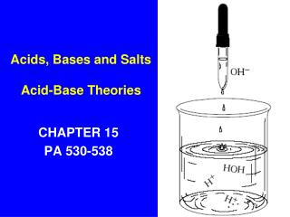 Acids, Bases and Salts Acid-Base Theories