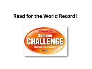 Read for the World Record!