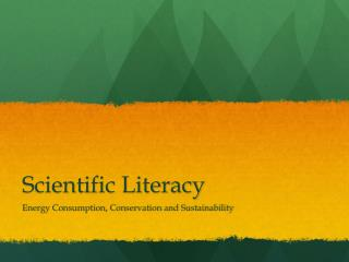 Scientific Literacy
