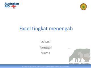 Excel tingkat menengah