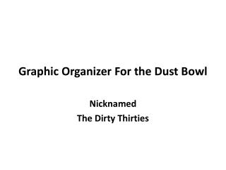 Graphic Organizer For the Dust Bowl