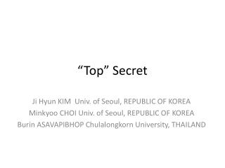 """""""Top"""" Secret"""