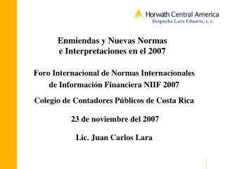 Enmiendas y Nuevas Normas e Interpretaciones en el 2007