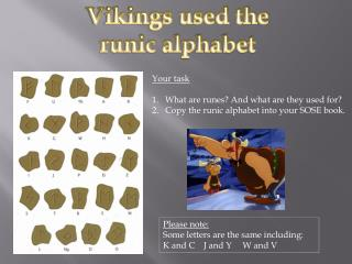 Vikings used the  runic alphabet