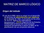MATRIZ DE MARCO L GICO