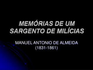 MEM RIAS DE UM SARGENTO DE MIL CIAS