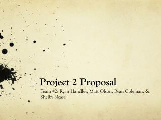 Project 2 Proposal