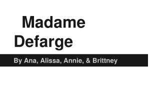 Madame Defarge