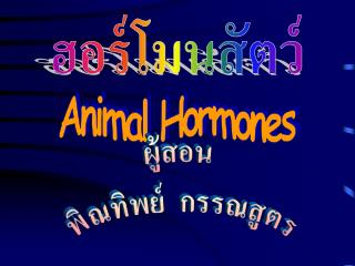 Animal Hormones