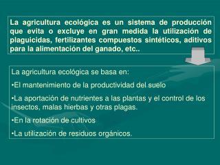 Ayudas a agroindustrias ecol gicas