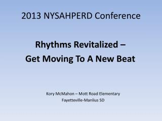 2013 NYSAHPERD Conference