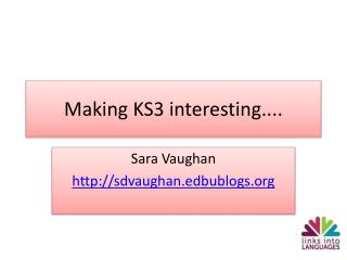 Making KS3 interesting....