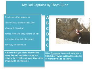 My Sad Captains By Thom Gunn