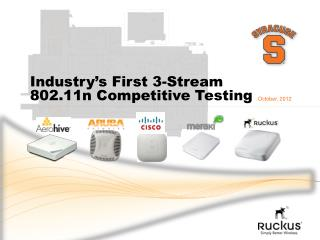 Industry's First 3-Stream  802.11n Competitive Testing