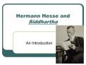 Hermann Hesse and Siddhartha