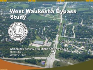 West Waukesha Bypass Study