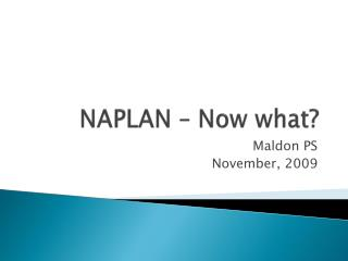 NAPLAN – Now what?