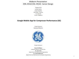 Google Mobile App for Compressor Performance (GE)