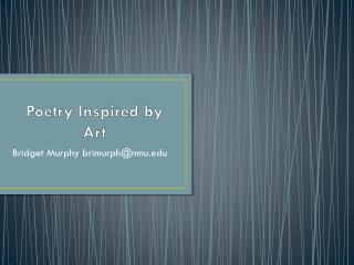 Poetry Inspired by Art