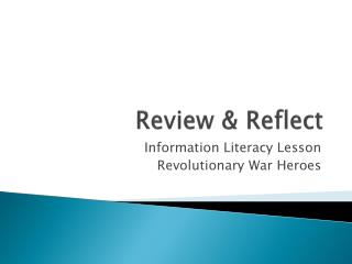 Review & Reflect