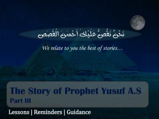 The Story of Prophet Yusuf A.S Part III