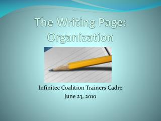 The Writing Page: Organization