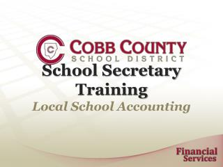 School Secretary Training Local School Accounting