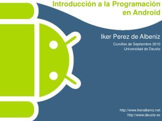 Introducci n a la Programaci n  en Android